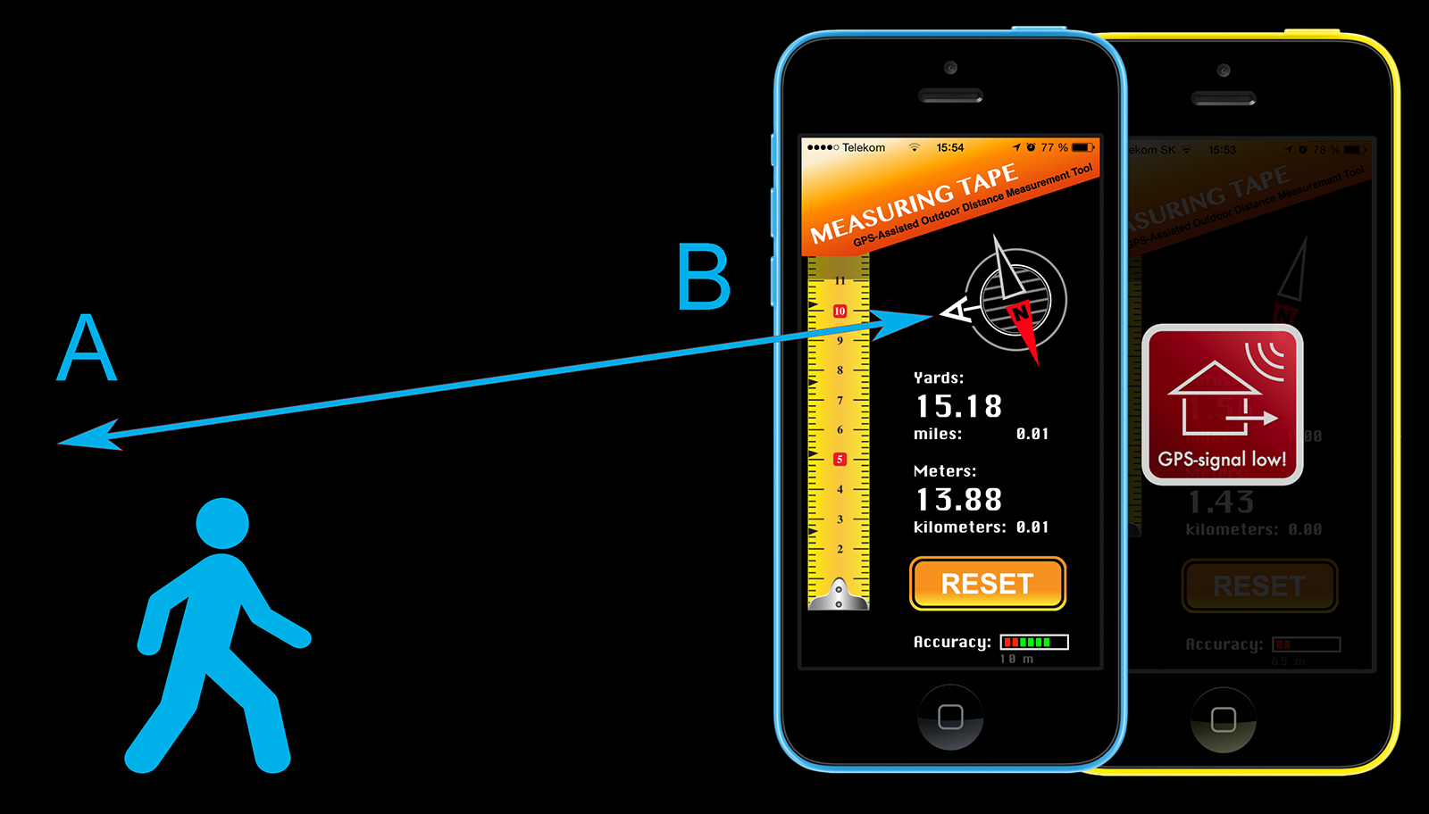 measuring app iphone measuring gps based distance measurement yardage 12620